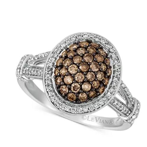 Chocolatier Diamond Ring 14K White Gold