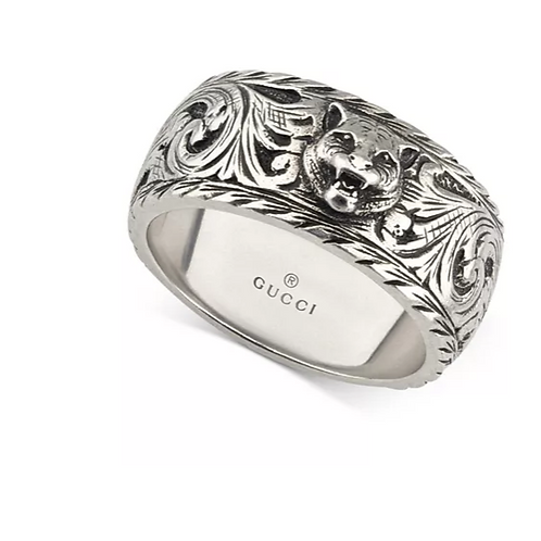 Men's Gucci Sterling Silver Panther Head ring