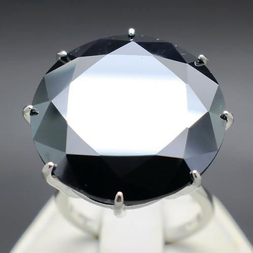 Black Diamond Engagement Ring 30CT