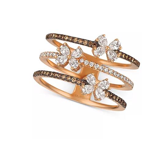 Le Vian Chocolatier Diamond Butterfly Openwork Ring 14K Rose Gold