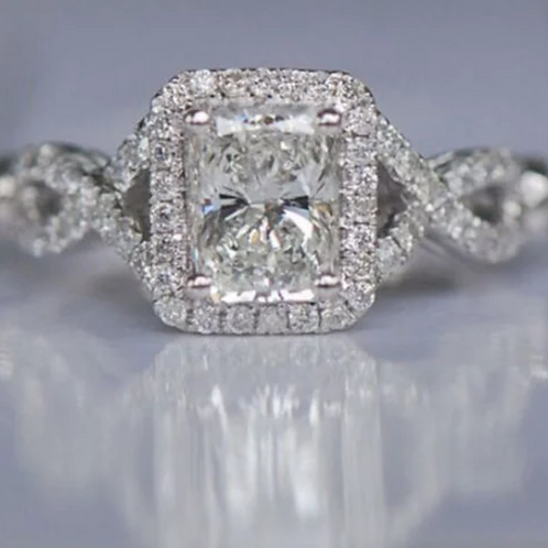 Engagement Ring, 4 (c.t.t.w.) White Sapphire