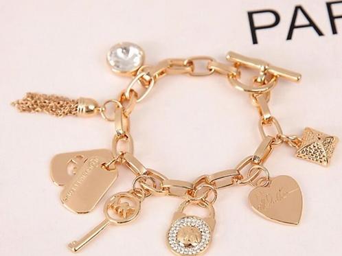 Michael Kors Rose Gold Charm Bracelet