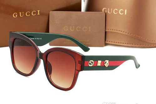 Gucci Sunglasses Green and Brown with Case