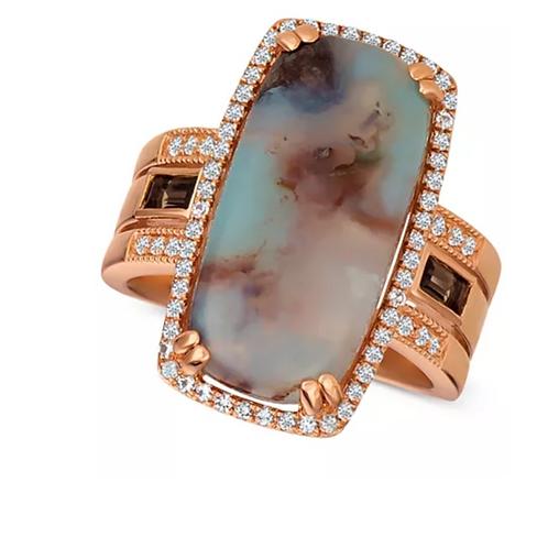 Le Vian Sky Aquaprase (21 x10mm) Diamond 14K Rose Gold