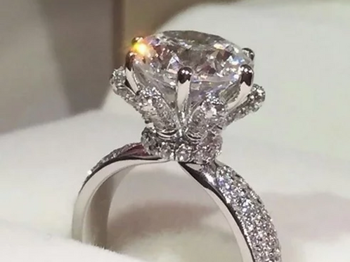 Engagement Ring, 2(c.t.t.w.) White Sapphire