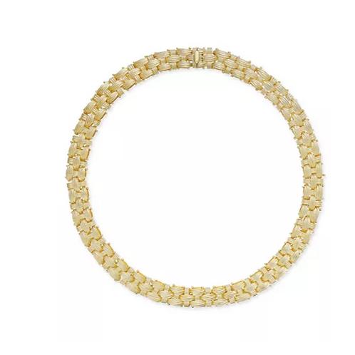 Italian Gold Woven Choker Necklace 14K YG