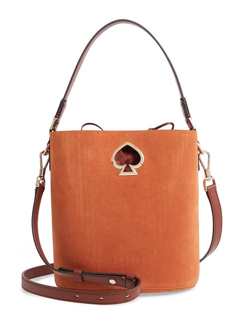 Kate Spade Suzy Suede Bucket Bag Amber