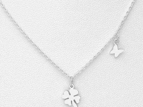 Clover and Butterfly Necklace