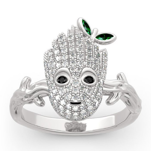 """copy of """"I am Groot"""" Sterling Silver Ring"""