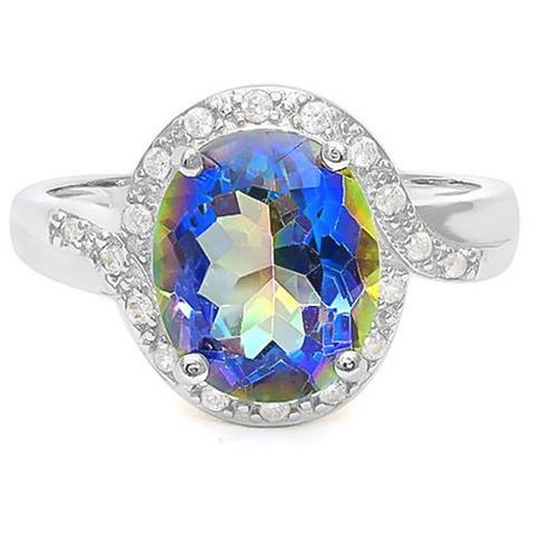 Ring, Mystic 3 1/5 (c.t.t.w.) and Diamond Ring