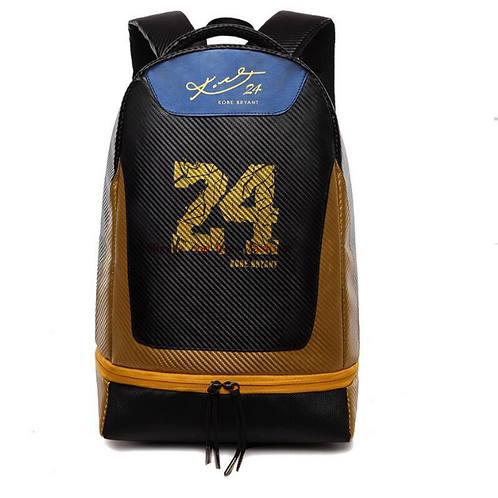 Koby Bryant Backpack Blue & Gold with KB Gold Signature