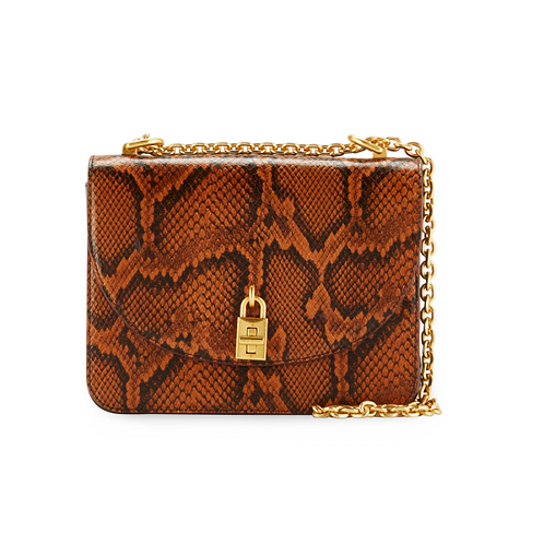 Rebecca Minkoff Love Too Python-Embossed Shoulder Bag