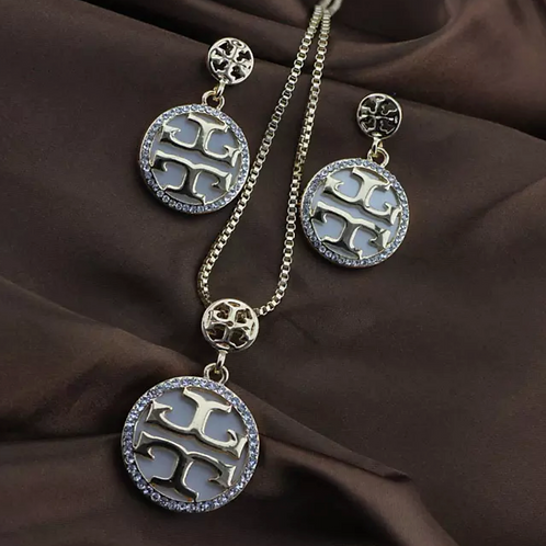 copy of Tory Burch Silver Necklace Set
