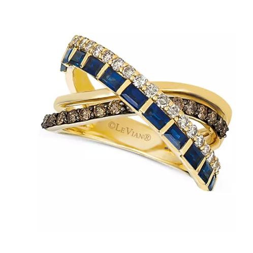 Le Vian Sapphire & Diamond Criss Cross Ring 14K Gold