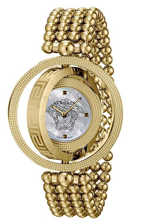 Watch, Versace EON Analog Display Gold Quartz