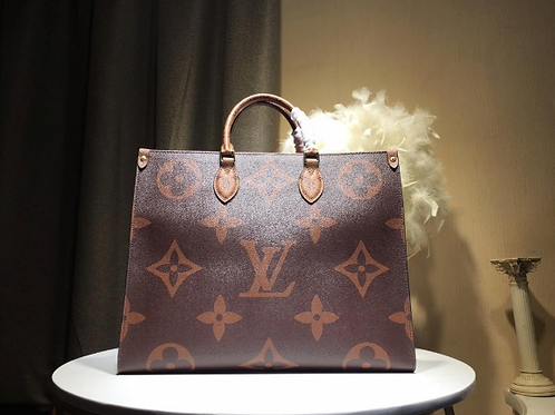 Louis Vuitton OnTheGo Monogram Leather in Brown