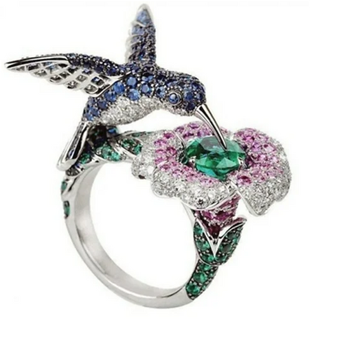 Ring, Hummingbird Sterling Silver