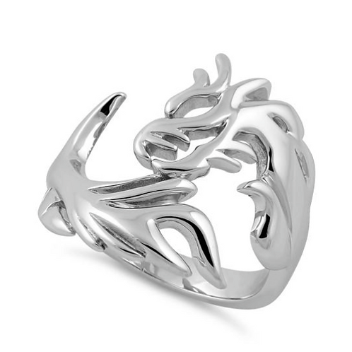 Dragon Ring Solid 925 Sterling Silver