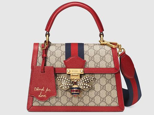 Gucci Queen Margaret GG Top Handle Bag Red