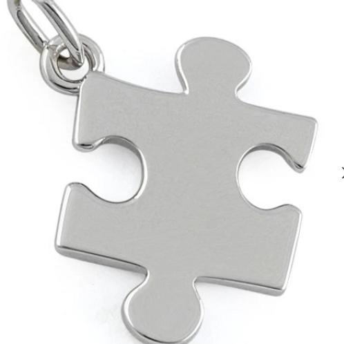 Sterling Silver Jigsaw Pendant