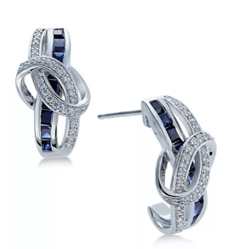 Sapphire and Diamond Earrings WG