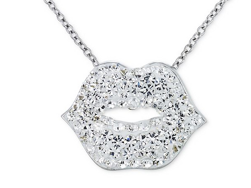 Necklace, Clear Lips 18""