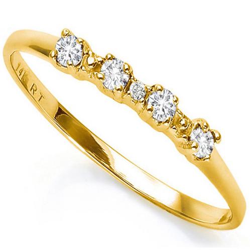 Diamond Wedding Band 10K WG