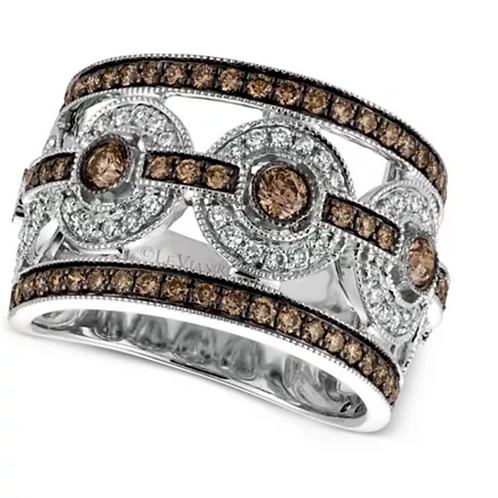 Le Vian Chocolatier Deco Estate Diamond (1-1/4 C.T.T.W.) Ring 14K White Gold
