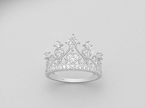 Crown Cocktail Ring Sterling Silver