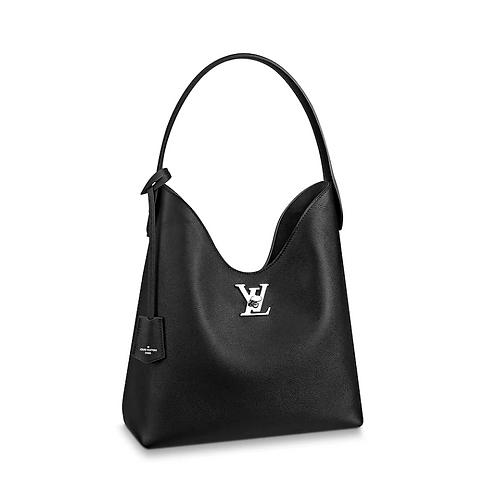 Louis Vuitton Lockme Hobo Black Leather