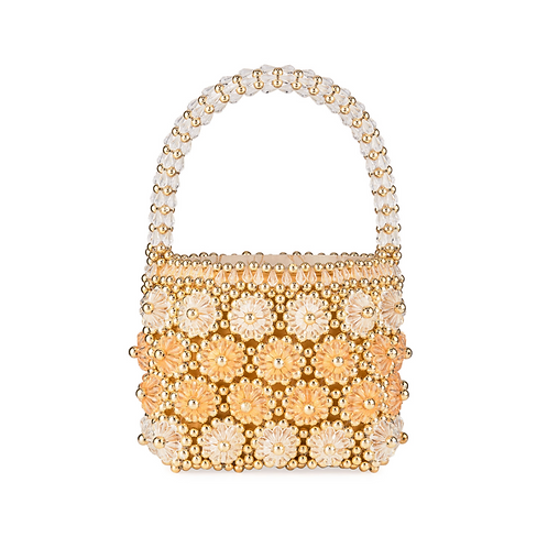 Shrimps Shell Cluster Beaded Bag