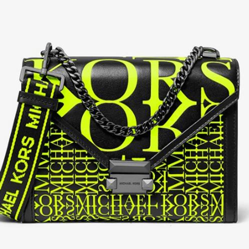 Michael Kors Yellow Newsprint Handbag