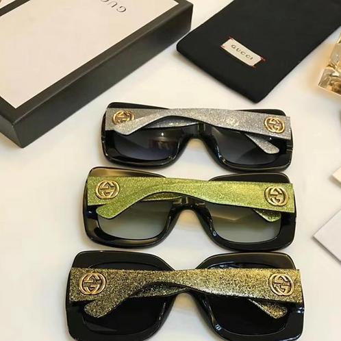 Gucci Sunglasses, Black and Green