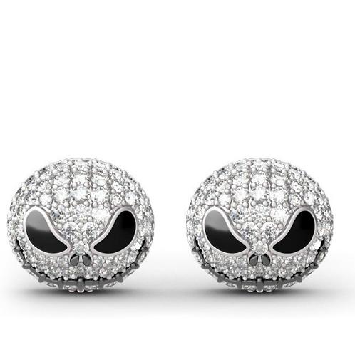"""Pumpkin King """"Jack Skull"""" Earrings"""