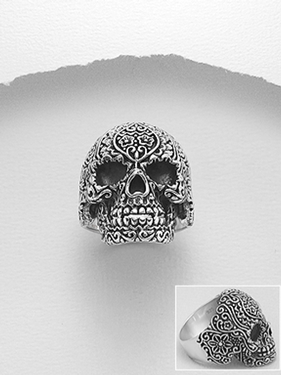 Huge Celtic Skull Ring