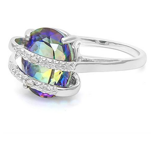 Ring, Ocean Mystic & Diamond