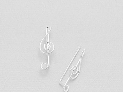 Musical Note Ear Pins