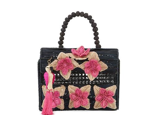 Mercedes Salazar Iraca Palm Threaded Top Handle Bag