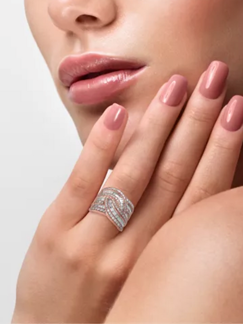 Classique by EFFY Diamond (1-1/2 C.T.T.W.) Wide Style Ring 14K Rose Gold