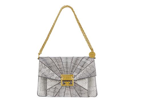 Givenchy GV3 Neutral Snakeskin Shoulder Bag