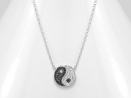Yin-Yang Pendant Necklace 925 Sterling Silver