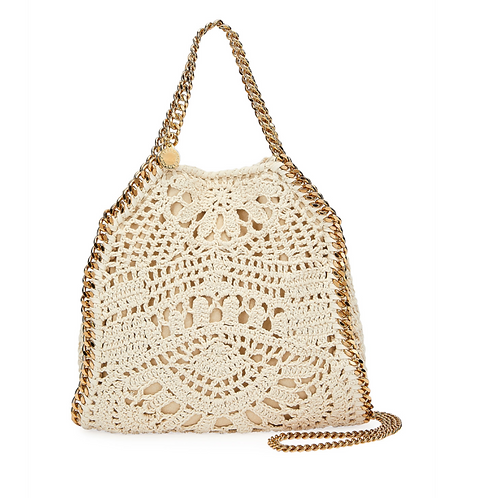 Stella McCartney Crochet Ajouree Tote Bag Cream