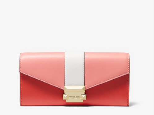 Michael Kors Large Blush Tri-Color Leather Bag