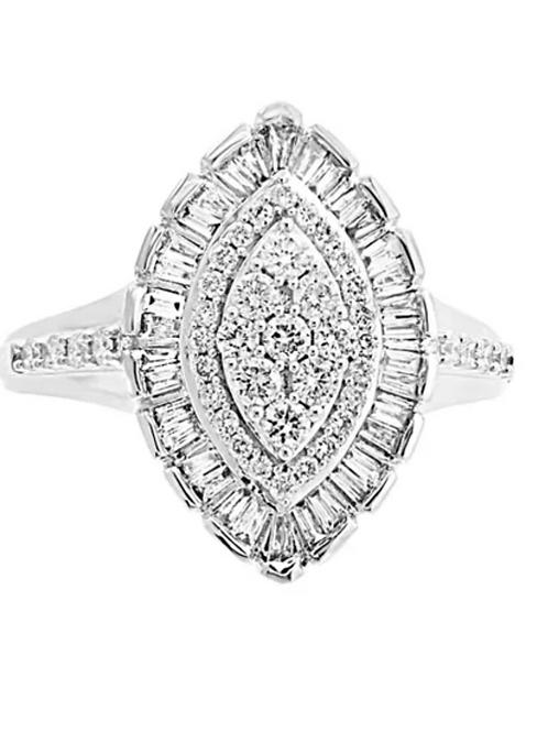 EFFY Diamond (1 C.T.T.W.) Marquise Cluster Ring 14K White Gold
