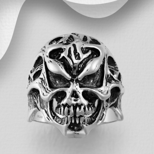 Amazing Skull Ring 925 Sterling Silver