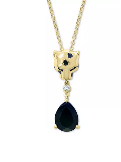 EFFY Multi Gemstone Panther Pendant Necklace 14K