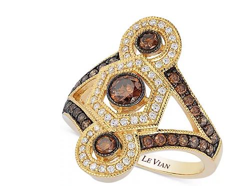 Art Deco Estate Gold Diamond Ring (1-1/2 C.T.T.W.)Art