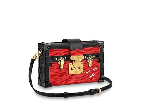 Louis Vuitton Petite Malle Epi Red Leather Bag