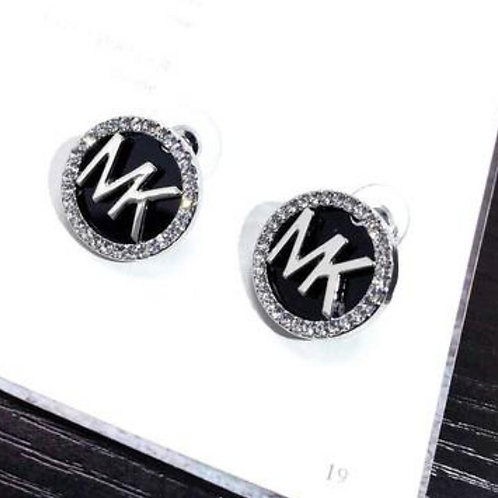 Michael Kors Earrings with Halo in Silver