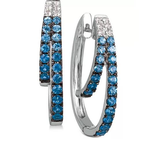 Le Vian BlueBerry Sapphire Earring 14K White Gold